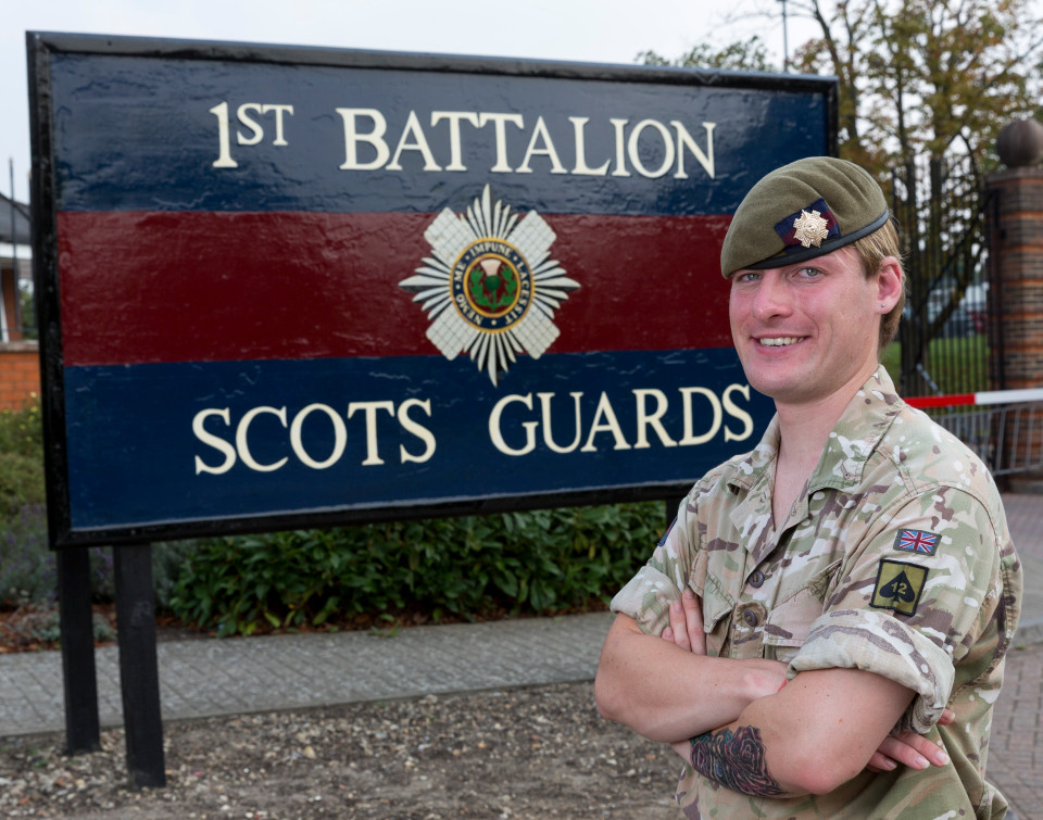 Pic Doug Seeburg Guardsman Chloe Allen of the 1st Battalion Scots Guards. After becoming a women she is the first female frontline soldier in the history of the British Army.
