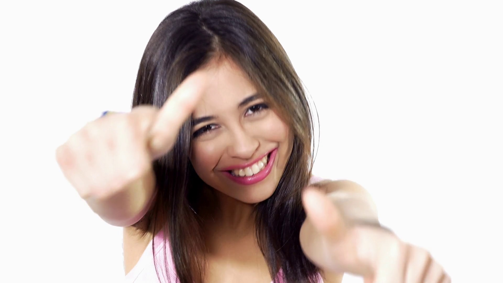 thumbs up woman attitude
